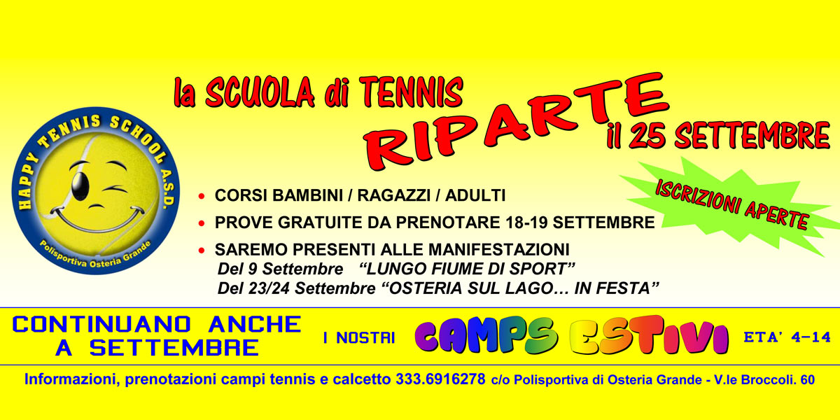 HAPPY TENNIS SCHOOL - OSTERIA GRANDE
