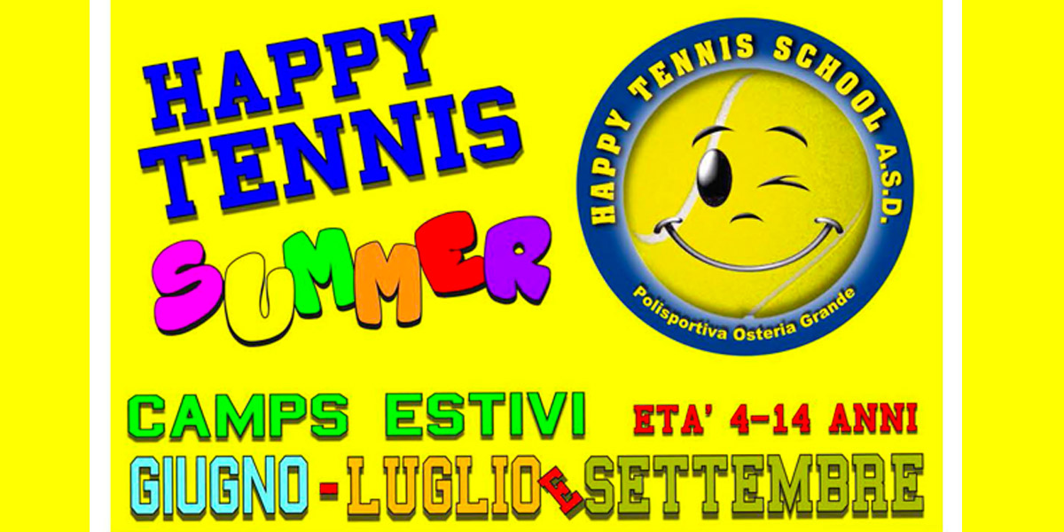 HAPPY TENNIS SUMMER 2018